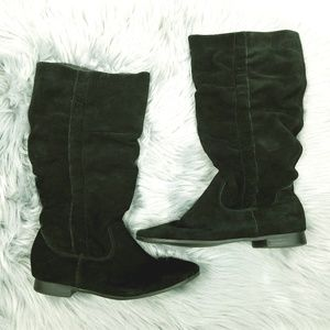 Pesaro boots Torri black suede slouch size 7.5